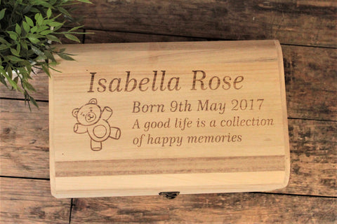 Baby Memory Box With Baby Bear