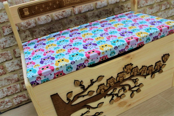 Personalised Toy Box - Owl - ukhomeware