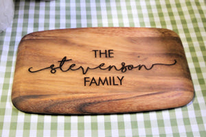 Personalised Rustic Acacia Wood Board - Personalised For