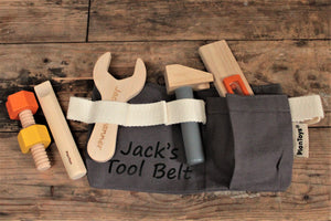 Personalised Wooden Tool Belt And Tools Toy Set - Free UK Delivery By Personalised For