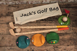 Personalised Wooden Toy Golf Set - Personalised For