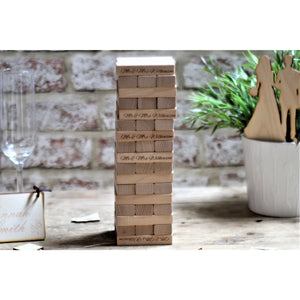 Personalised Building Block Guestbook - Weddings, Birthdays, Anniversaries - ukhomeware