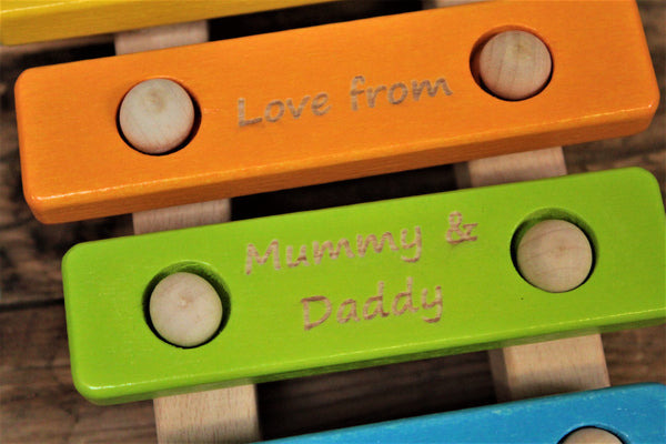 5 Note Wooden Xylophone - Personalise For