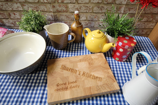 "Personalised Butchers Block Chopping Board - ""My Kitchen"" - ukhomeware"