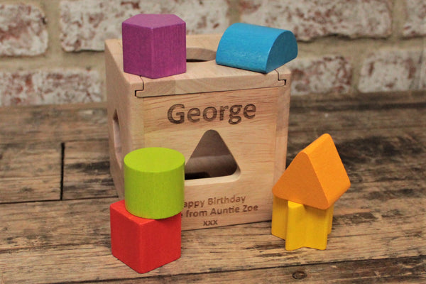 Personalised Wooden Shape Sorter - By Personalised For