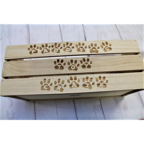 Personalised Pet Toy Crate - ukhomeware