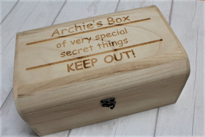 "Personalised memory box - ""Keep Out!"" - ukhomeware"