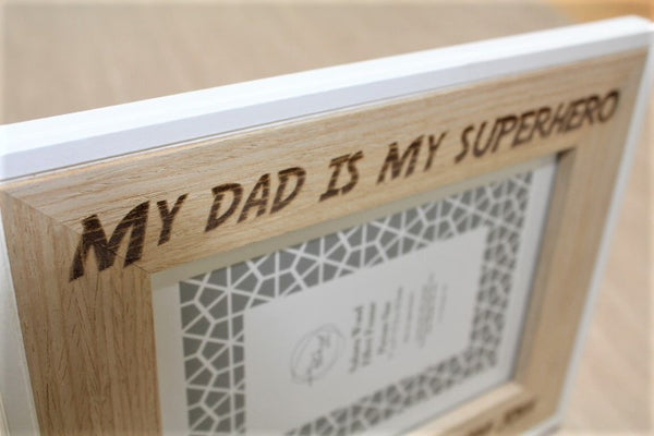 Superhero Dad Personalised Picture Frame - ukhomeware