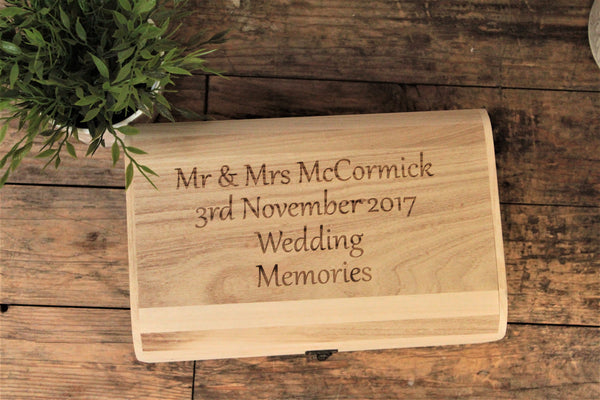 Personalised wedding anniversary memory box