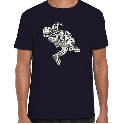 Basketball Spaceman Cartoon t-shirt - ukhomeware