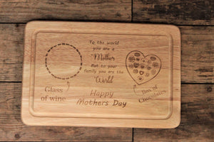 Mothers Day Treats Board, Mothers Day Gift, Personalised For