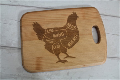 """Chicken Cuts"" Engraved chopping board - ukhomeware"