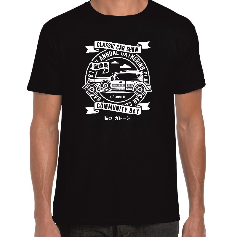 Classic Car Show T-Shirt - ukhomeware