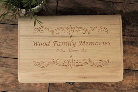 "Personalised memory box - ""Family Memories"""