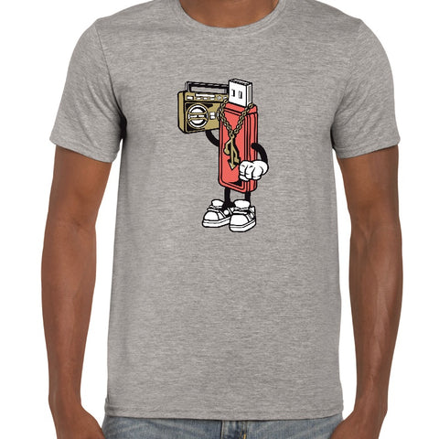Gangster USB Cartoon t-shirt - ukhomeware