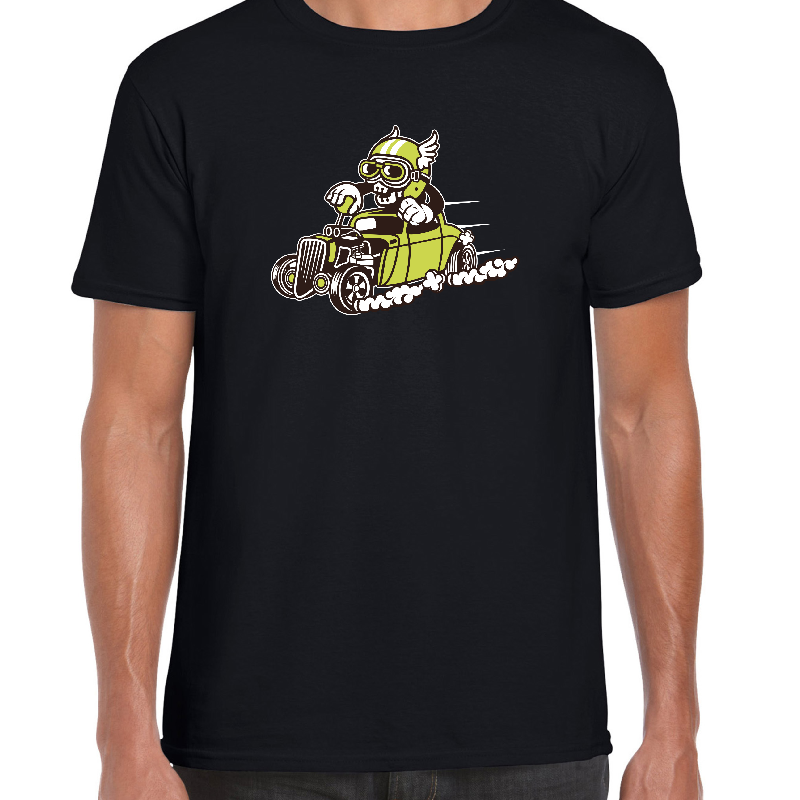 Hot Rod Racer Cartoon t-shirt - ukhomeware