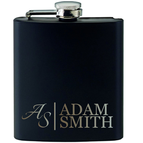 Engraved Personalied Hip Flask Gift Set