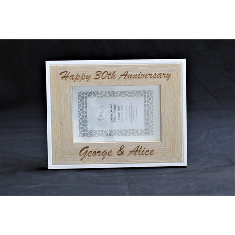 Anniversary Personalised Engraved Picture Frame - Personalised For