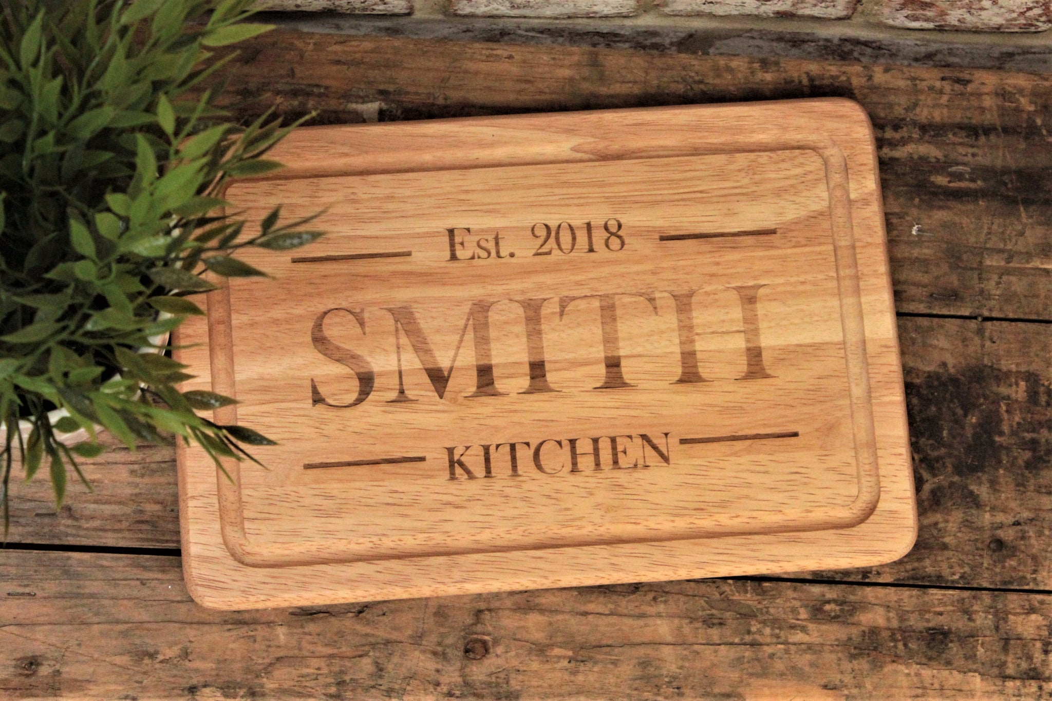 Personalised Chopping / Serving Board - Name and Est Date - Engraved Cutting Board - Personalised For