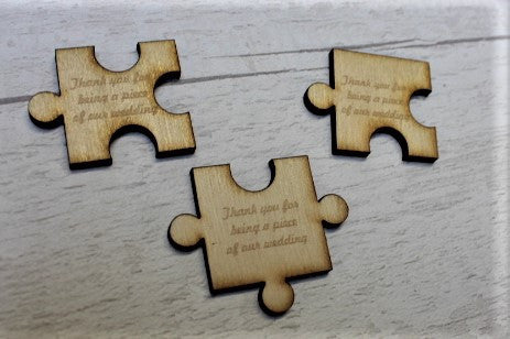 Jigsaw Piece Wooden Table Decorations/ Wedding favours - ukhomeware