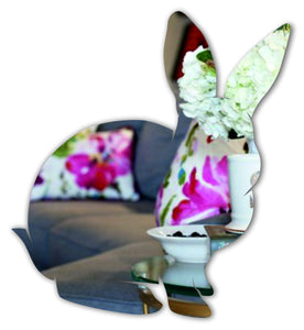 Rabbit sitting acrylic mirror - ukhomeware