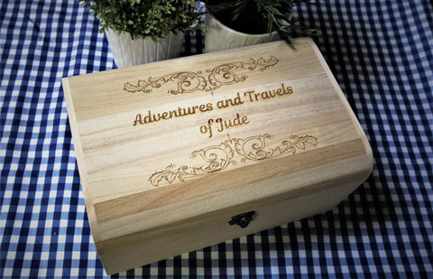 Personalised Scroll Detail Memory Keepsake Box - By Personalised For