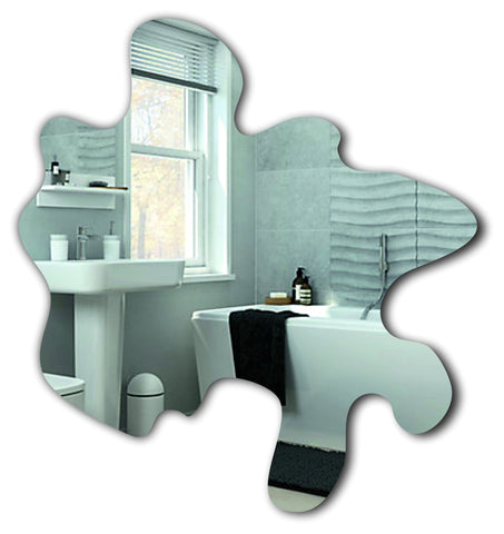 Splash shape acrylic mirror - ukhomeware