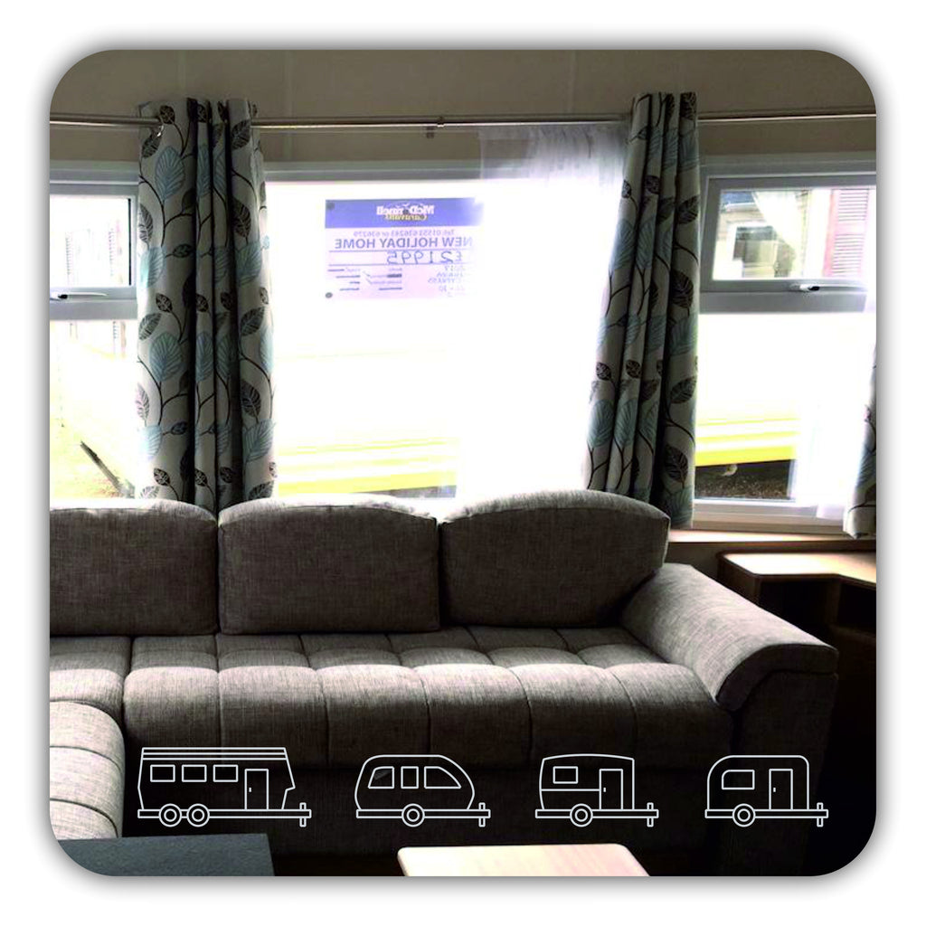 Caravan etched design square acrylic mirror - ukhomeware