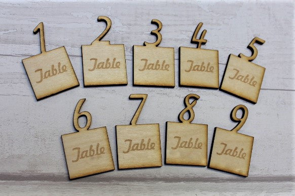 Engraved Wooden Table Numbers - ukhomeware