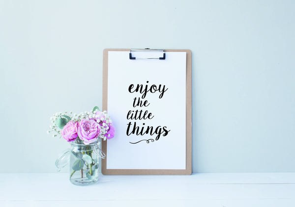 printable poster enjoy the little things