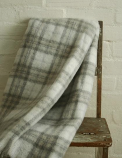 Natural Check Mohair Blanket