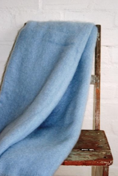 Clear Skies Mohair Blanket
