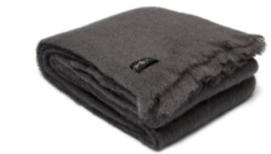 Anthracite Mohair Blanket