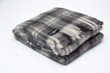 Charcoal Check Mohair Blanket