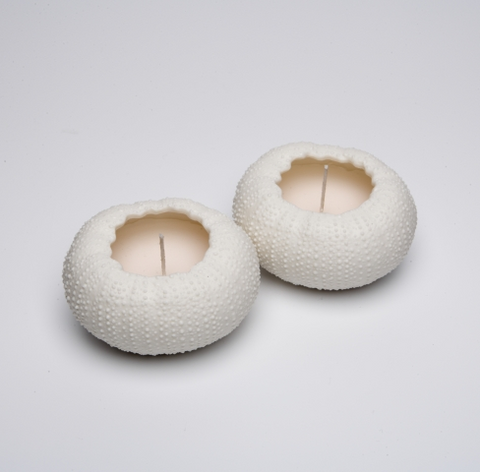 Small Rafiki Urchin Candles - Set of Two