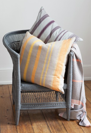 Malawi wicker chair with Bright Mali cushions
