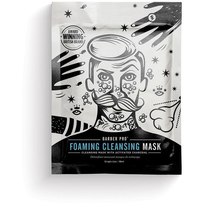 FOAMING CLEANSING MASK Cleansing Mask with Activated Charcoal - BedfordshireBeardCo