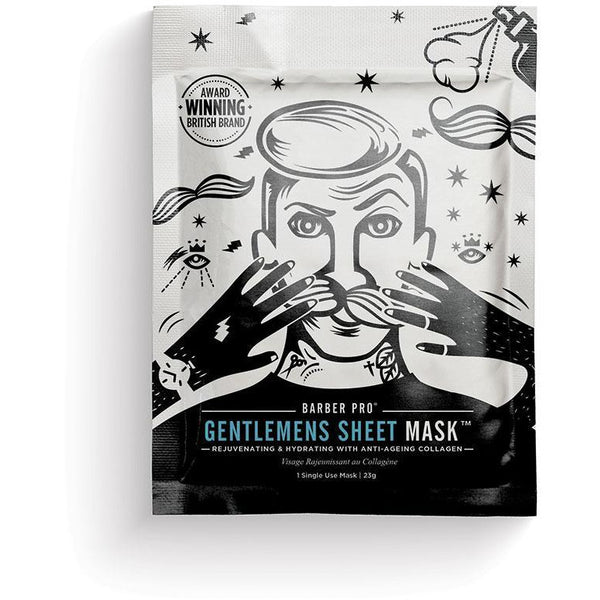 GENTLEMENS SHEET MASK Rejuvenating & Hydrating with Anti-Ageing Collagen - BedfordshireBeardCo