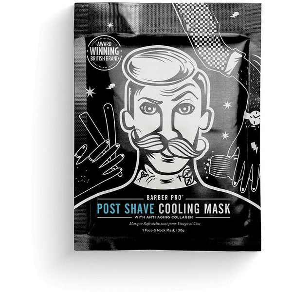Barber Pro Post Shave Cooling Mask - Award Winning Mask with Anti-Ageing Collagen - BedfordshireBeardCo