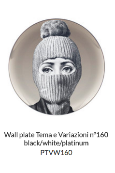 Fornasetti Wall plates collection in Platinum