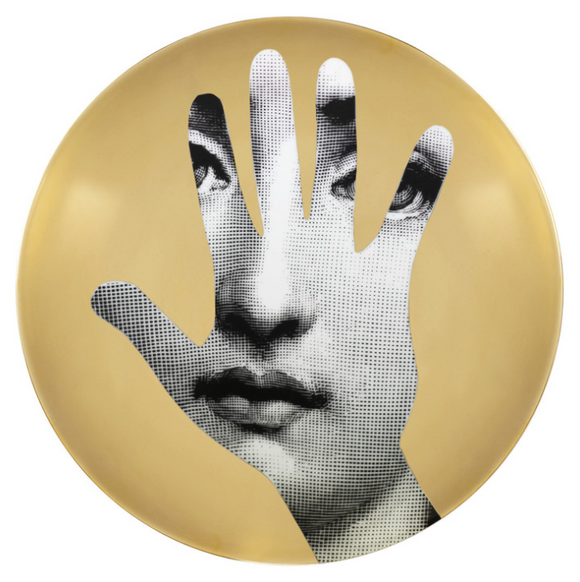 Fornasetti Wall Plate T&V 15 gold - Milk Concept Boutique