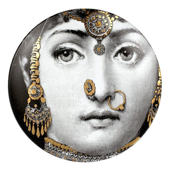 Fornasetti Wall Plate T&V 228 gold - Milk Concept Boutique