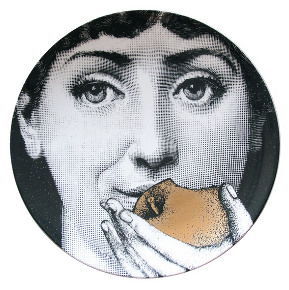 Fornasetti  Wall Plate T&V 360 gold - Milk Concept Boutique