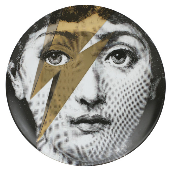 Fornasetti Wall Plate T&V 375 gold - Milk Concept Boutique