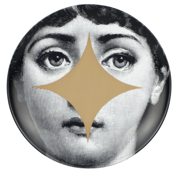 Fornasetti Wall Plate T&V 42 gold - Milk Concept Boutique