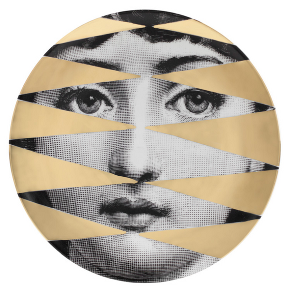 Fornasetti Wall Plate T&V 46 Gold - Milk Concept Boutique