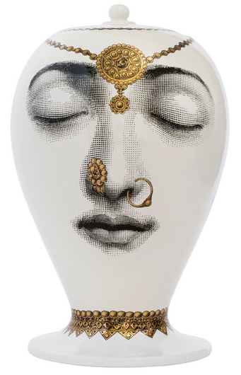 Fornasetti Vase Bollywood Black/White/Gold - Milk Concept Boutique