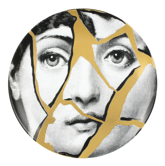 Fornasetti Wall Plate T&V 2 gold - Milk Concept Boutique