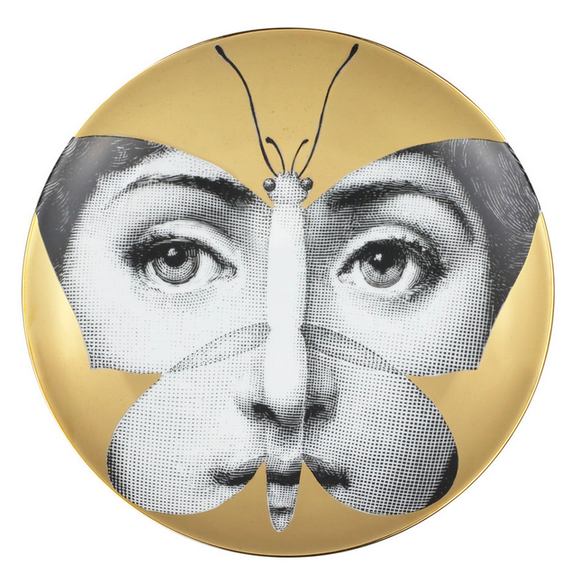 Fornasetti Wall Plate T&V 96 gold - Milk Concept Boutique