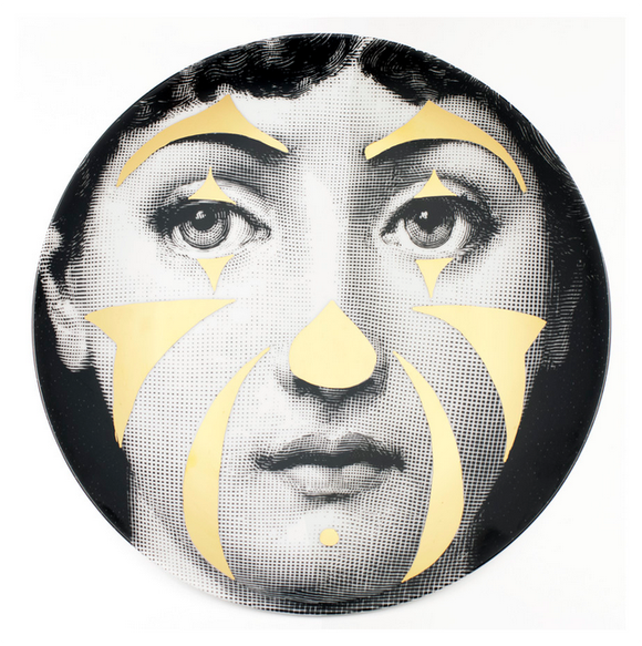 Fornasetti Wall Plate T&V 122 gold - Milk Concept Boutique